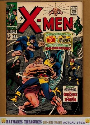Uncanny X-Men #38 (8.0) VF Cyclops origin 1967 Silver Age Key Issue