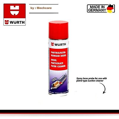 Genuine Wurth Dpf Diesel Particulate Filter Cleaner 400Ml Spray Hose