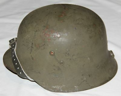 Original Wwii Hungarian M38 Combat Helmet Reissued To The Finnish