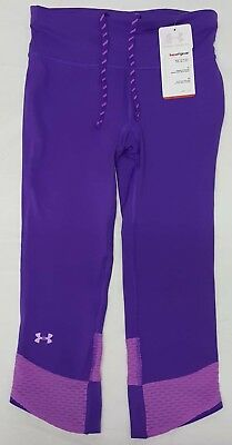 NEW Under Armour Womans XS Fly-by Compression Fitted Heat Gear Athletic Pants