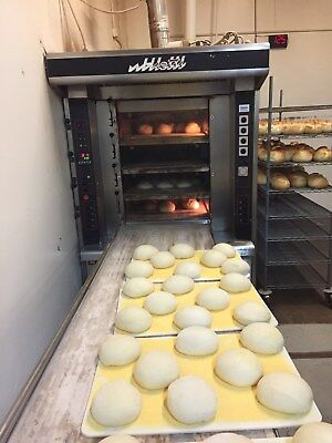 Tibiletti 75/4/240 Artisan 4 Deck Gas Bakery Oven With Steam &  Manual loader