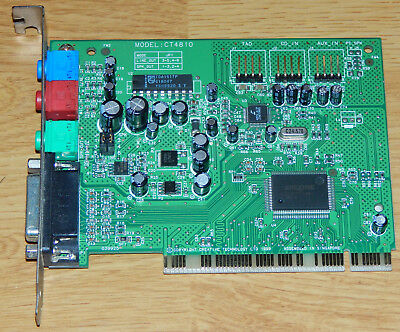 pilote carte son creative ct4810