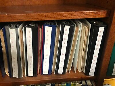 Lot of Sheet Music Magazine 1978 -2011  Complete.  All Issues Present