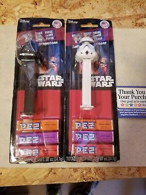 Pez Candy Dispenser Star Wars Darth Vader Storm Trooper,new