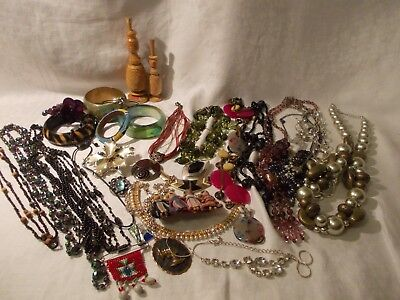 large collection job lot of vintage jewellery