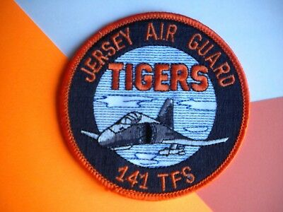 "141st Tactical Fighter Squadron Jersey Air Guard ""TIGERS"" USAF Patch"