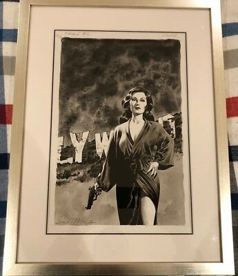 Sean Phillips Fatale Original Cover Art Issue #6 Signed and Framed