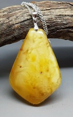 9,2 gr Genuine Natural Butterscotch Baltic Amber Pendant Necklace