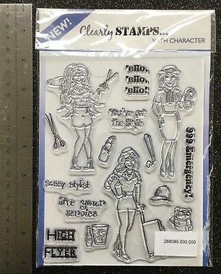 Clearly Stamps 'Girls In Uniform' Clear Stamp Set New