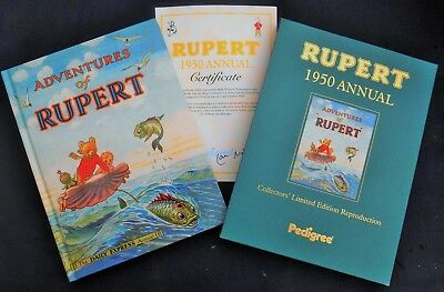 Superb Mint 1950 Rupert Bear Limited Edition Facsimilie Annual With Slip Case