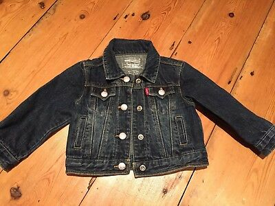 Beautiful Baby Girl's Toddler Levi's Jacket Age 18 Months. Excellent Condition