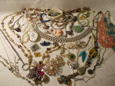 Collection job lot of vintage costume jewellery