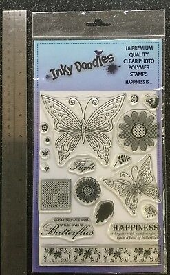 Inky Doodles Clear Stamp Set Happiness Is....New