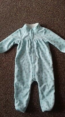 Carters - Baby Girls - Turquoise/silver Allinone - Age 9 Months