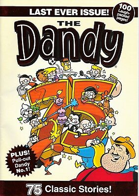 LAST EVER THE DANDY COMIC 4th December 2012, 100 pages, 1st ever Dandy insert