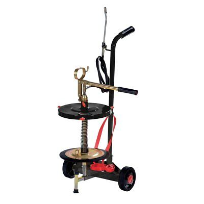 Wheeled manual grease pump for 35 lbs/ 5 gallon pail