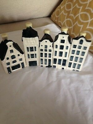 5 Bols Klm Delft Canal Houses # 60,67,66,68,75.  All Sealed, Perfect Full