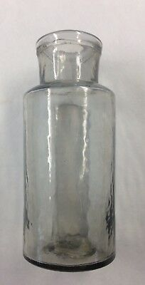 Civil War Era Small Blown Glass Grey Medicine Bottle