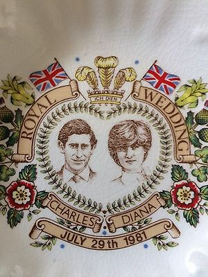 Charles and Diana royal wedding pin dish by Aynsley England (1981)
