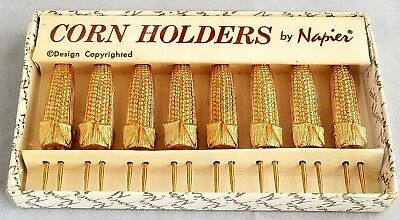 Vintage Napier Gold-Toned Corn/Cob Holders