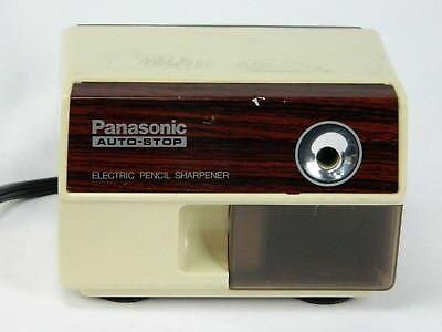 Vintage KP-110 Panasonic Auto Stop Electric Pencil Sharpener Works Made Japan