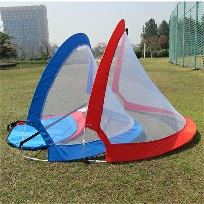 Kids Portable Folding Pop Up Football Soccer Goal Training Net with Carry Bag US