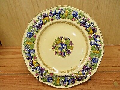 "Vintage Crown Ducal Florentine England 8.875"" Luncheon Plate 1954"