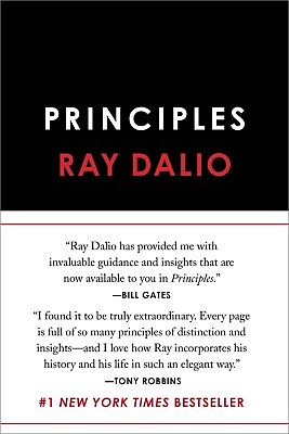 Principles: Life and Work by Ray Dalio - Retail $30.00