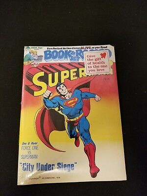 1978 Superman Book & Record Set City Under Siege FACTORY SEALED