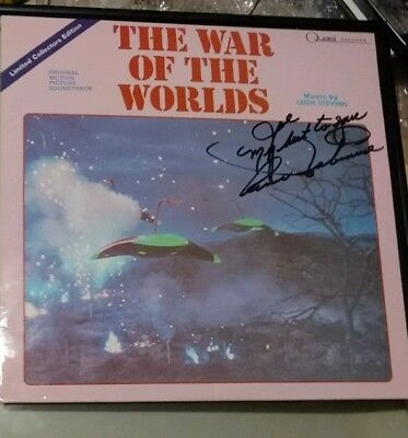 """1953 Limited Edition """"War of the Worlds""""  Sound Track w/ Lead Actress' autograph"""