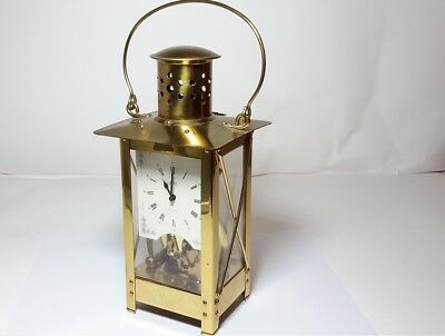 Vintage Brass Carriage Clock Schatz Germany 2 Jewels 8 Day Unadjusted, Lantern