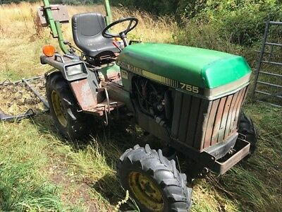 John Deere 755 4x4 Compact Tractor Topper Mower Roller Link Box And Chain Harrow