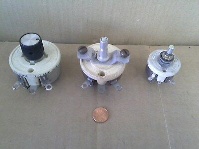 Lot Of (3) Rheostats (2) Ohmite And (1) Memcor New Old Stock