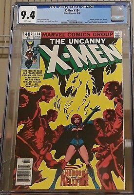 Uncanny X-Men #134 CGC 9.4  1st Appearance Dark Phoenix 1980.  MOVIE Nice Case
