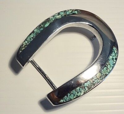 Sterling Silver Turquoise Belt Buckle