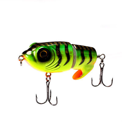 63mm 18g Top Water Tiger Frog Fishing lure Artificial Popper two sections Bait