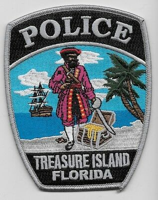 Colorful Pirate patch Treasure Island Police State of Florida FL