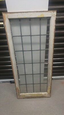 Antique lead glass window would make great full length mirror 47x21