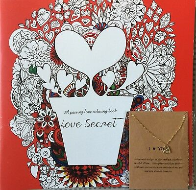 Love Secret Colouring Book -  and -  I Love You Necklace