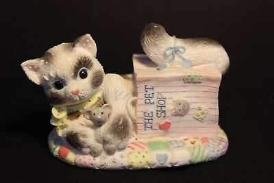 Calico Kittens - Our Friendship is out of the bag Cat Figurine - Numbed - ENESCO