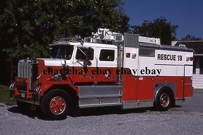 Fire Apparatus Slide - York Twp PA - 1987 Autocar Steeldraulics Rescue 19