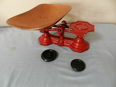 Vintage Pound Weight Scales with 2 weights