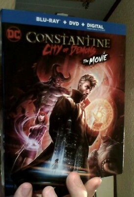 CONSTANTINE CITY OF DEMONS Blu-ray/DVD/Digital (CASE, COVER, CODE, & ALL DISC)