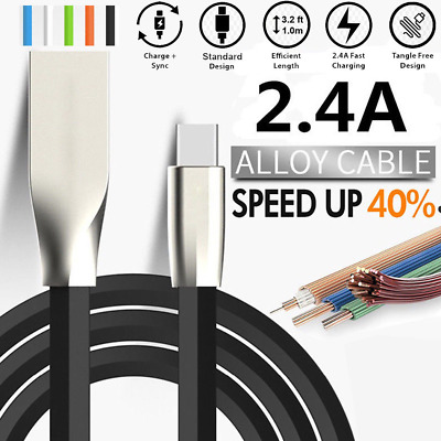 For iPhone 6 7 8 Plus X Fast Charging Charger Lightning USB Flat Data Sync Cable