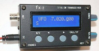Excellent !  LNR Precision FX-2  QRP  30M/40M Transceiver w/Manual & DC Cable