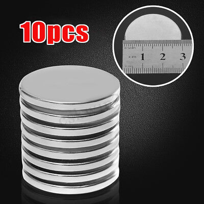 10PCS N52 Super Strong Round Magnets 30 mm x 3 mm Disc Rare Earth Neo