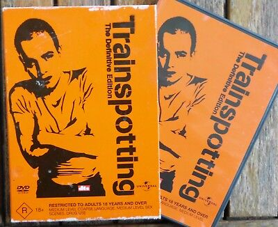 TRAINSPOTTING  The Definitive Edition    R4  & Slip Cover (2-DVD Set)(1969sc)
