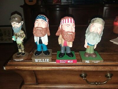Duck Dynasty Bobbleheads Lot Willie, Uncle Si, Phil Robertson