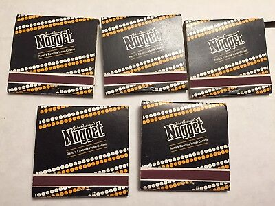 Vintage Nugget Hotel Casino Reno Nevada  New Old Stock Unstruck Lot Of 5