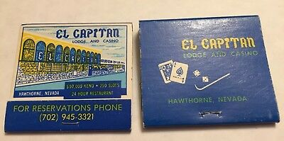 Vintage El Capitan Lodge And Casino Hawthorne NV New Old Stock Unstruck Lot Of 2